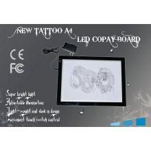 Ajustável LED Touch Screen A4 tamanho duplo luz tatuagem cópia placa