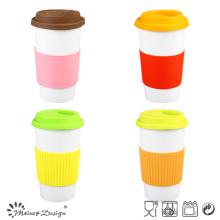 14oz Porcelain Travel Mug with Silicone