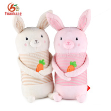 OEM custom promotional long ear stuffed animal bunny plush toy for easter holiday