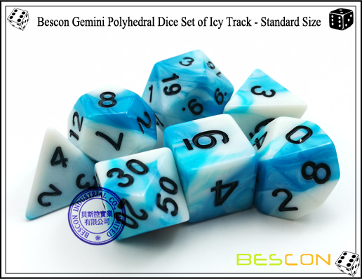 Bescon Gemini Dice Set of Icy Track-4