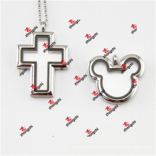Fashion Alloy Metal Cross / Mouse Head Magnets Lockets Charms (CML50925)