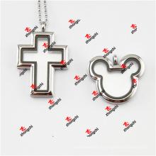 Liga de moda metal cross / mouse head ímãs encantamentos encantos (cml50925)