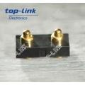 2p Flat Type Pogo Pin conector com caixa para SMT