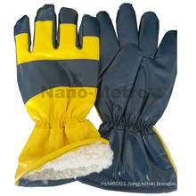 NMSAFETY direct buy china cheap nitrile impregnanted polar fleece winter gloves