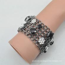 VAGULA Fvagula Hülle Gun Metall Strass Kristall Armband E6384