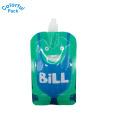 bolsa líquida de pie con caño / bolsa de agua para beber / bolsa doy-pack con caño