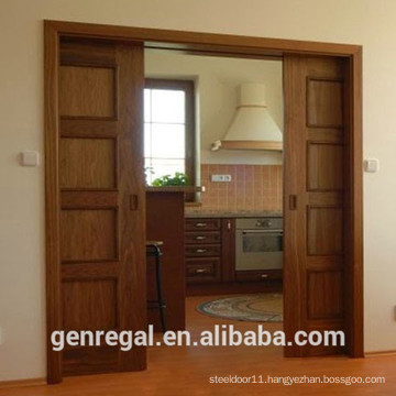 Natural interior sliding door