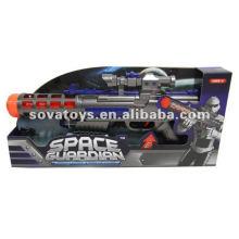NUEVA PISTOLA DE DISEÑO CON LUZ, MÚSICA Y ROTACIÓN, (CON LUZ, MÚSICA, BATERÍAS NO INCLUIDAS, 3 * AA) SPACE GUN TOY