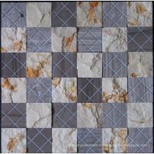 Mosaïque en pierre de marbre en mosaïque de paroi de surface naturelle (HSM190)
