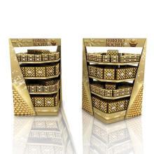 Estantes de exhibición de cartón promocionales para chocolate, paleta de visualización de puntos de venta