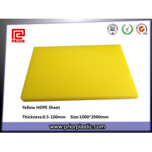 100% Virgin Plastic Yellow HDPE Sheet