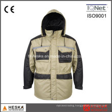 Heavy Canvas Quilted Cargo Parka Jacket