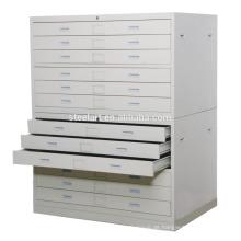 Zeichnungs / Kartenlagerschrank Multi Schublade Metallschrank