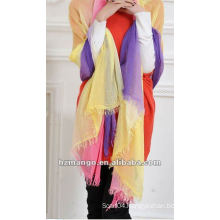 2016 Latest Fashionable Woman 100% Modal Two tone color Infinity scarf