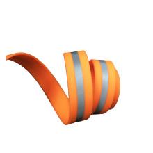 Sangle enduite en plastique PVC orange avec sangle réfléchissante