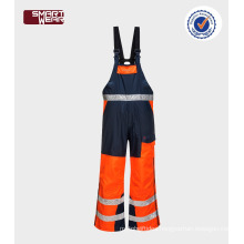 Wholesale overall workwear hi vis winter Safety Mens bib pants