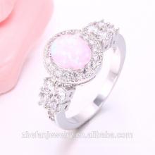 2018 Zhe Fan pink opal Jewelry Women Rings