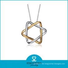 2014 Wholesale preiswerte Goldüberzug-silberne Stern-hängende Art- und Weiseschmucksachen (SH-N0177)