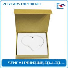 SenCai Necklace book shaped packing paper box