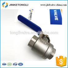 JKTL2B039 1000wog cf8m Válvula de esfera de aço inoxidável de gás Rb Pn40 de 2 peças