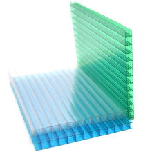 Clear lexan high heat resistance anti fire roofing eco-friendly hard plastic pc hollow cellular twin-wall polycarbonate sheet
