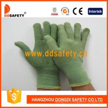 Зеленый Бамбук волокна с латексом перчатки Dnl315