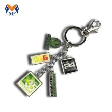 Metal logo printing keychain charms