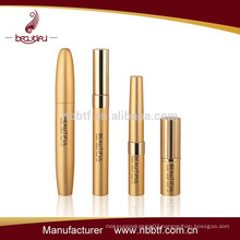 2016 best sell gold empty mascara tube, factory sell cosmetic set, unique design cosmetic packaging