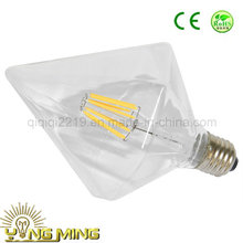 6.5W Sharp Diamond Clear Dim E27 Hotel Shop Light LED Filament Bulb