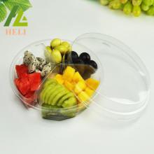 3 Compartments PET Plastic Fruit Salad Container