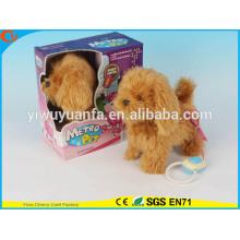 Hot Sell Kids' Toy Beautiful Walking Electric Skip Plush Brown Dog
