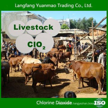 Fongicide au dioxyde de chlore à bas prix pour la désinfection des animaux