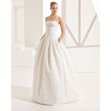 Strapless Boall Gown Wedding Dress Bridal Gown