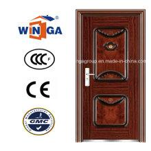 Hochwertige Eisen Metall Sicherheit Stahl Tür (WS-111)