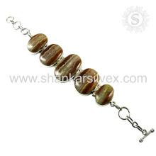 Fantabulous natural gemstone silver bracelet 925 sterling silver bracelets handmade jewellery wholesale supplier