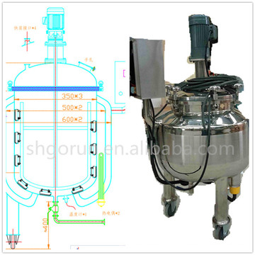 1200l Stainless Steel Pharmaceutical Mixing Tank,Toothpaste Mixing Tank