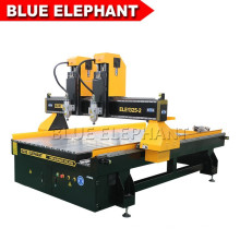 1325 4 Axis Double Head CNC Router Engraver Milling Machine Price for 3D Wood Furniture, Aluminum