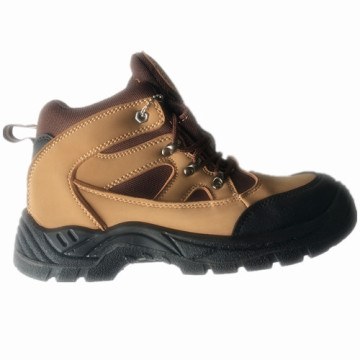 Верхний PU нубука кожи подошвы PU работу безопасности обуви
