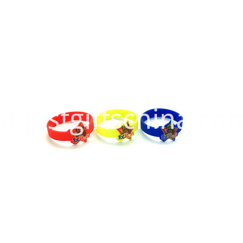 Promotional Figured Cartoon Printed Silicone Wristbands