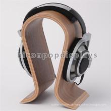 Fabrik Preis Custom Counter Top N Form Supermarkt Günstige Bambus Holz Single Kopfhörer Display