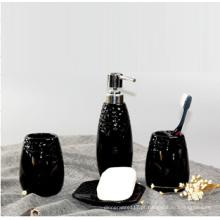 Encaixes de banheiro de cerâmica de uso diário preto
