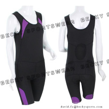 Ladies Elastic Close-Fitting Breathable Clothes Cycling Wears