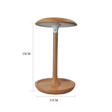 Pilzform verstellbare Holz LED Tischlampe