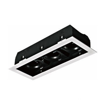 Double Triple Head GU10 Grille Light Encastré