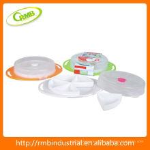 Recipiente de armazenamento de alimentos de plástico