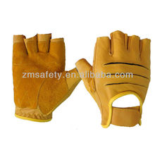 Suede Leather Weighted Glove For Professional Lifters HYB20