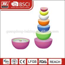6 in 1 bunte Mikrowelle Lebensmittel-Container (7pcs 0,35 L - 5,6 L)