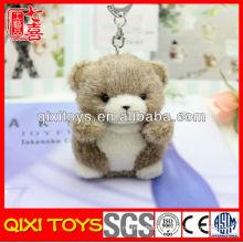 Soft stuffed small cute plush teddy bear keychain