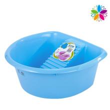 Large Capacity Plastic Washing Basin with Washboard (SLP032)
