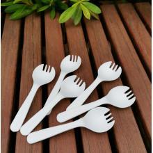 Talheres de plástico descartáveis Spork compostáveis PLA Eco